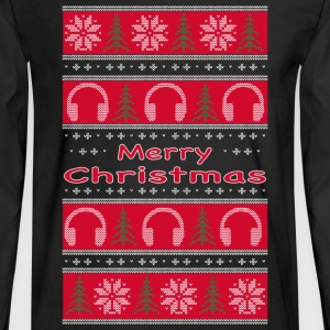 Ugly Xmas DJ Sweaters Long Sleeve Shirts - Men's Long Sleeve T-Shirt
