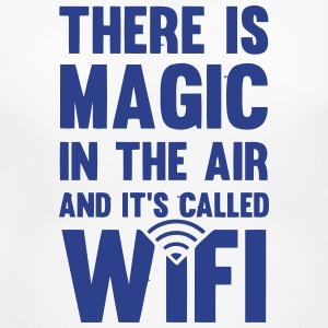 THERE IS MAGIC IN THE AIR - CALLED WIFI! Women's T-Shirts - Women's Maternity T-Shirt