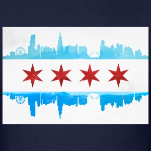 CHICAGO SKYLINE FLAG T-Shirts - Men's T-Shirt