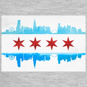 CHICAGO SKYLINE FLAG Baby Bodysuits - Baby Contrast One Piece