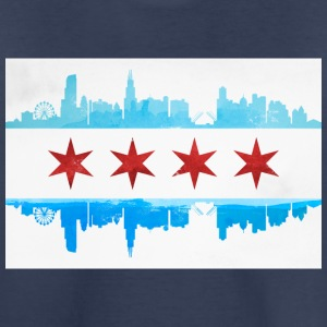 CHICAGO SKYLINE FLAG Kids' Shirts - Kids' Premium T-Shirt