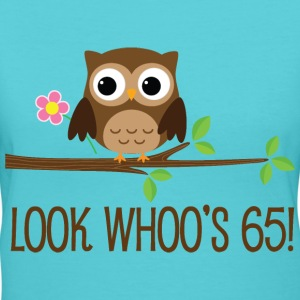 65th Birthday Owl Look Whoos 65 Women's T-Shirts - Women's V-Neck T-Shirt