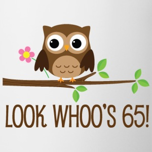 65th Birthday Owl Look Whoos 65 Mugs & Drinkware - Coffee/Tea Mug