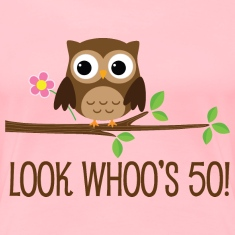 50th Birthday Owl Look Whoos 50 Women's T-Shirts