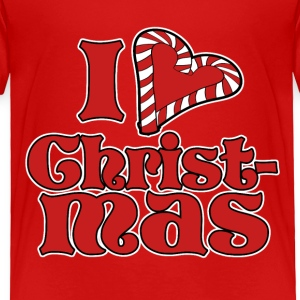 I love Christmas - Toddler Premium T-Shirt