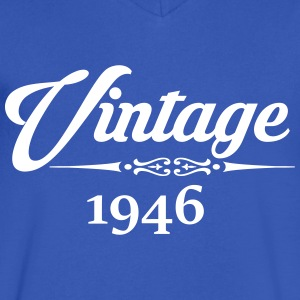 Vintage 1946 T-Shirts - Men's V-Neck T-Shirt by Canvas