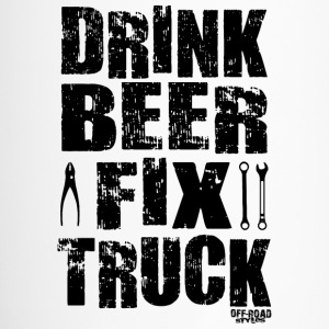 DRINK BEER FIX TRUCK Mugs & Drinkware - Travel Mug