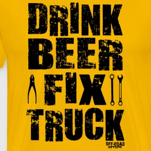 DRINK BEER FIX TRUCK T-Shirts - Men's Premium T-Shirt