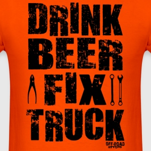 DRINK BEER FIX TRUCK T-Shirts - Men's T-Shirt