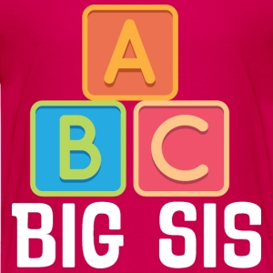 Big Sis A B C Cute Sister Announcement Kids' Shirts - Kids' Premium T-Shirt