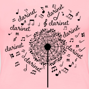Clarinet Music Notes Band Women's T-Shirts - Women's Premium T-Shirt