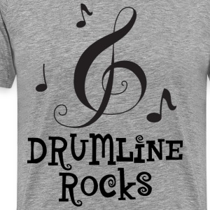 Drumline Rocks Marching Band Music T-Shirts - Men's Premium T-Shirt