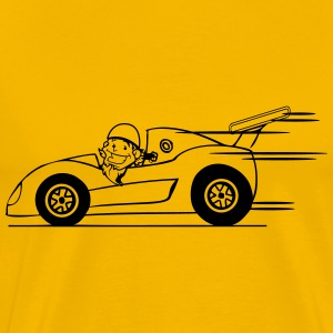 Race car funny comic T-Shirts - Men's Premium T-Shirt
