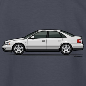 Audi A4 Quattro B5 Sedan (White) Kids' Shirts - Kids' Long Sleeve T-Shirt