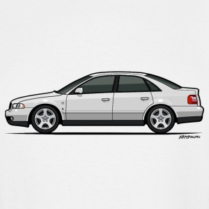 Audi A4 Quattro B5 Sedan (White) T-Shirts - Men's Tall T-Shirt