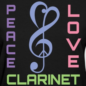 Peace Love Clarinet Music Band Gift Women's T-Shirts - Women's T-Shirt