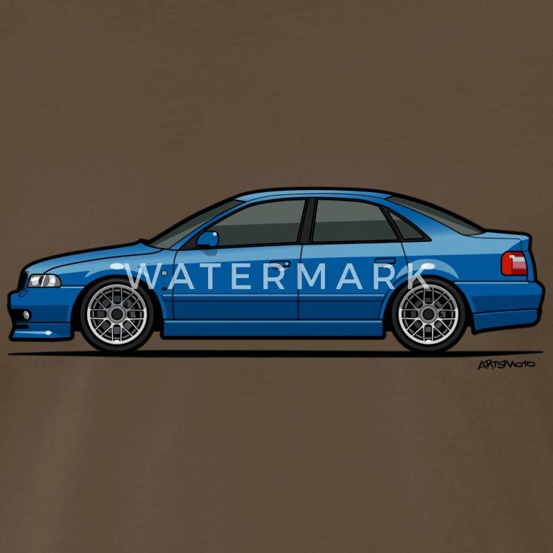 Audi A4 Quattro B5 Sedan (Nogaro Blue) T-Shirt