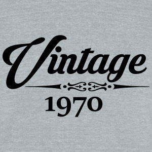 Vintage 1970 T-Shirts - Unisex Tri-Blend T-Shirt by American Apparel