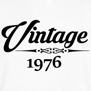 Vintage 1976 T-Shirts - Men's V-Neck T-Shirt by Canvas