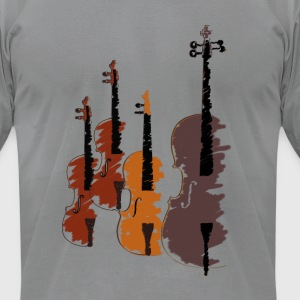 Quartet of bowed string instruments T-Shirts - Men's T-Shirt by American Apparel