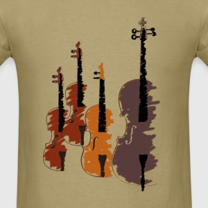 Quartet of bowed string instruments T-Shirts - Men's T-Shirt