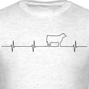 Cattle Heartbeat Mens T - Men's T-Shirt