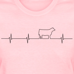 Cattle Heartbeat Ladies T - Women's T-Shirt