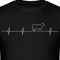 Cattle Heartbeat Mens T white