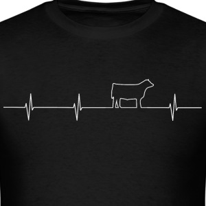 Cattle Heartbeat Mens T white - Men's T-Shirt