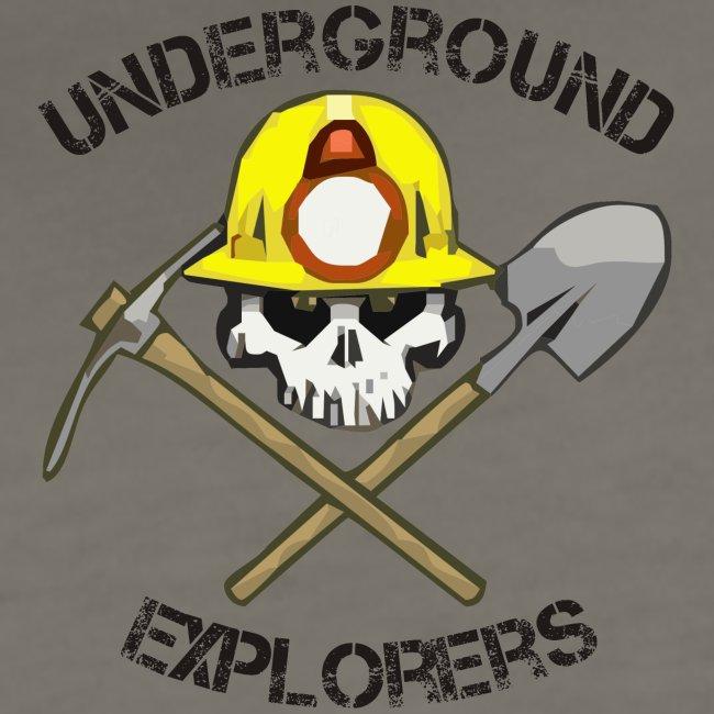 Underground Explorers Women's Asphalt (black text) Fitted Logo Tee
