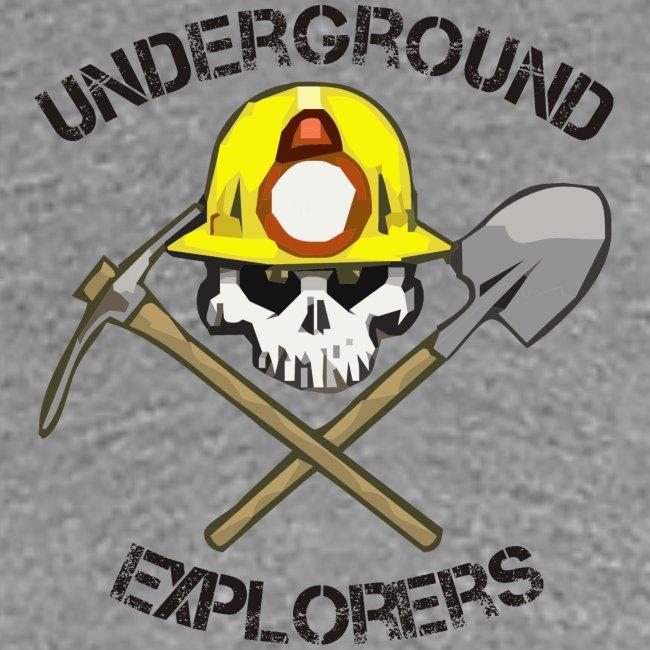 Underground Explorers Women's Heather Grey Fitted Logo Tee