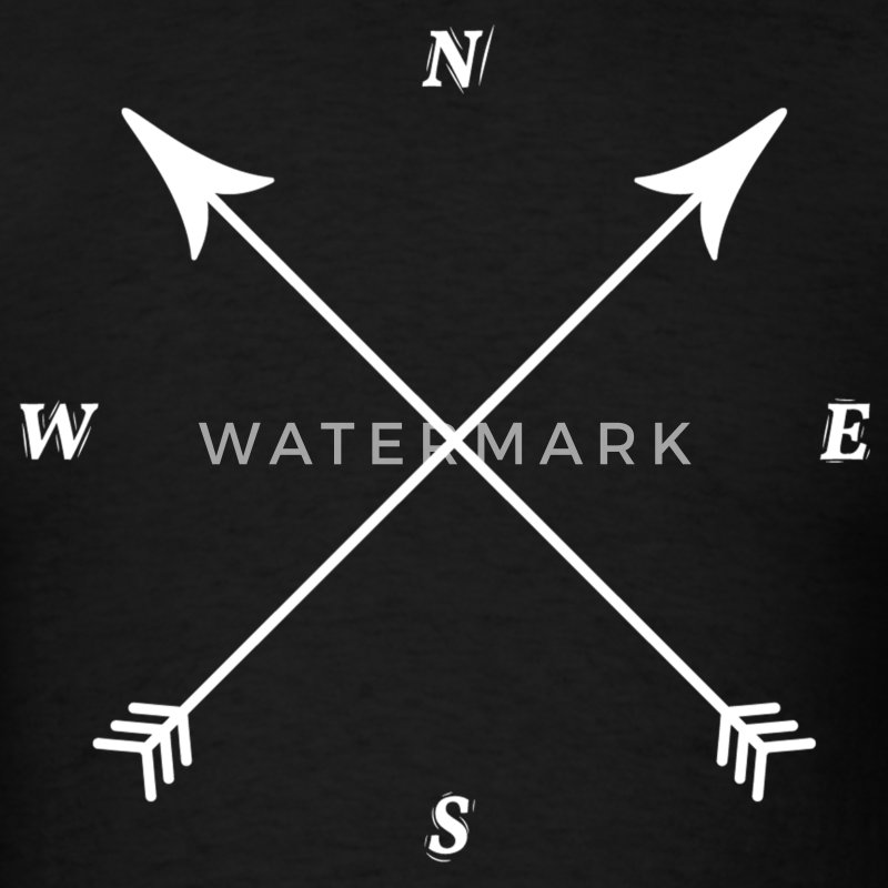 Compass Print, North, East, South, West T-Shirts - Men's T-Shirt