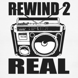 Rewind 2 Real Men Shirt  - Men's Ringer T-Shirt