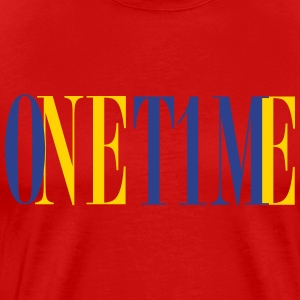 One Time - Red Tee - Men's Premium T-Shirt