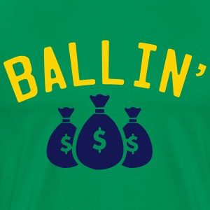 Ballin' Green Tee - Men's Premium T-Shirt