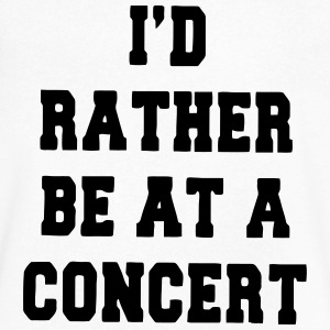 I'D RATHER BE AT A CONCERT T-Shirts - Men's V-Neck T-Shirt by Canvas