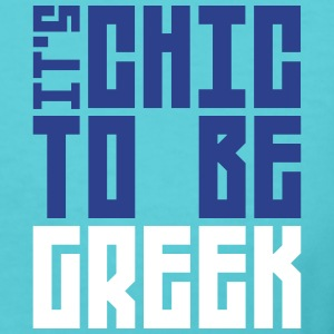 it is cheek to be greek Women's T-Shirts - Women's V-Neck T-Shirt
