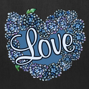 Love blue floral wedding - Tote Bag