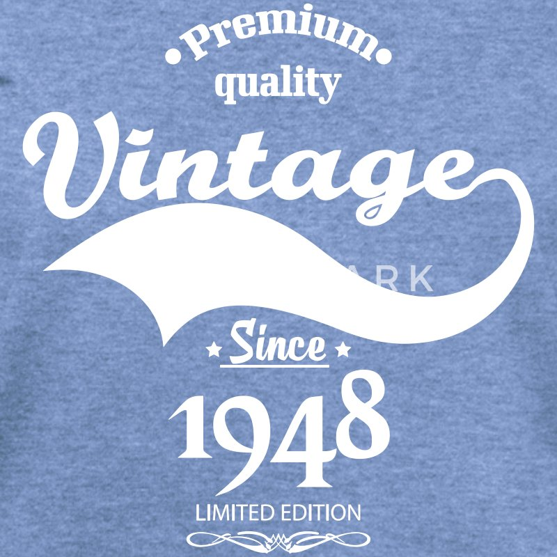 Premium Quality Vintage Since 1948 Limited Edition Long Sleeve Shirts - Women's Wideneck Sweatshirt