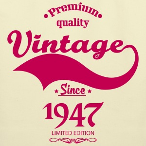 Premium Quality Vintage Since 1947 Limited Edition Bags & backpacks - Eco-Friendly Cotton Tote