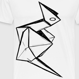 Origami Bird - Men's Premium T-Shirt