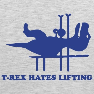 T-REX HATES LIFTING Tank Tops - Men's Premium Tank