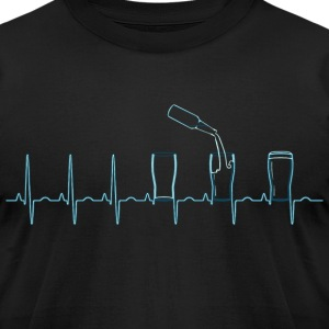 Beer Pulse EKG T-Shirts - Men's T-Shirt by American Apparel