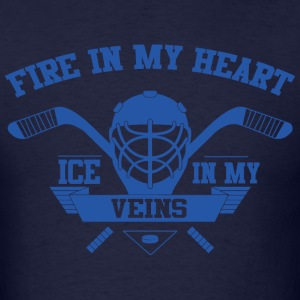 Fire in My Heart Ice in my Veins T-Shirts - Men's T-Shirt