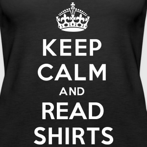 Keep Calm And Read Shirts Tanks - Women's Premium Tank Top