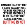 Crawling Is Acceptable  Tanks - Women's Premium Tank Top
