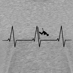 Skiing Downhill heartbeat Shirt - Men's Premium T-Shirt