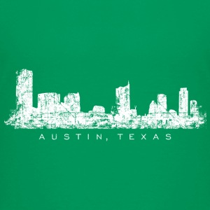 Austin, Texas Skyline T-Shirt (Children/Green) - Kids' Premium T-Shirt