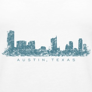 Austin, Texas Skyline Tank Top (Women/White) - Women's Premium Tank Top