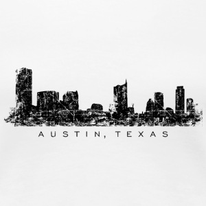 Austin, Texas Skyline T-Shirt (Women/White) - Women's Premium T-Shirt